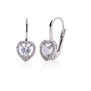 Earrings - Leverback heart